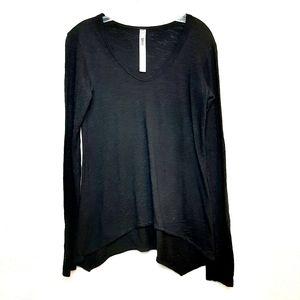 Wilt Asymmetrical Long Sleeve Shirt Black XS